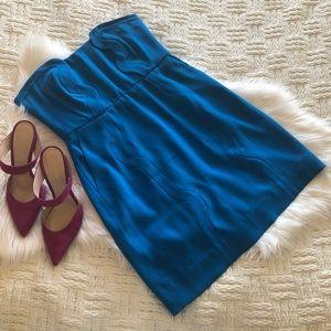 Diane Von Furstenberg Sahara Strapless Blue Dress